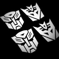 Vinyl Decal Car Side Wing Mirror Van VW 2 x Transformers Decepticon Stickers