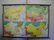 Scheda crocifissi Roll mappa carta MURO Cina Manchu Ming B. Repubblica 194x135 ~ 1963