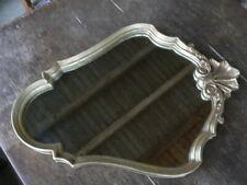 miroir en bois doré à suspendre