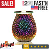 Electric Candle Warmer, Glass Tart Burner With 3D Effect Night Light, Wax Melt