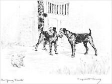 Airedale & Westie Puppy Dogs  Marguerite Kirmse 1922  8 New Large Note Cards