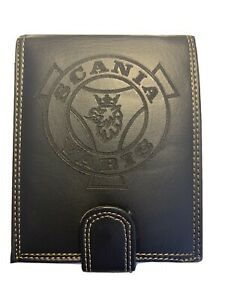 Scania Vabis Lorry Wallet Leather Luxury Truck HGV Black