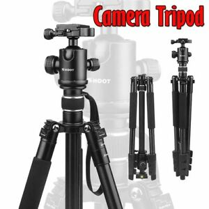 Camera Tripod Aluminum Alloy 4-Sections Portable Travel Stand For Canon Nikon