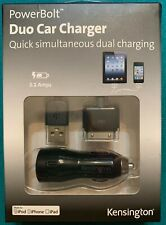 PowerBolt DuoCar Charger for OLDER iPad, iPod iPhone iOS 3.0 or later New in Box