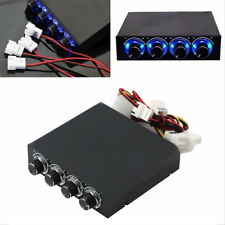 3.5inch PC HDD CPU 4 Channel Fan Speed Controller LED Cooling Front Panel YK