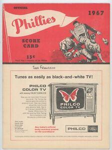 1967 Philadelphia Phillies Game Program