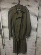 * Aquascutum * Aqua 5 Wool Double Breasted Classic Belted Beige Trench Coat 44R