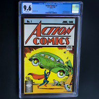 ACTION COMICS #1 (1988 REPRINT) 💥 CGC 9.6 WP 💥 SCARCE! Classic Superman Cover!