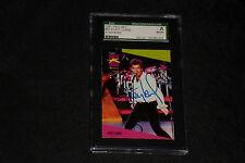 HUEY LEWIS 1991 PRO SET MUSICARDS SIGNED AUTOGRAPHED CARD #63 SGC SLABBED