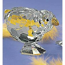 HUGE FACETED CRYSTAL HEN FIGURINE Mama chicken NEW IN BOX big sale DELUXE Chick