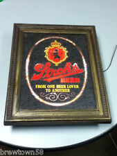Stroh's beer sign mirror Strohs lighted bar signs 1 vintage light brewery YA8