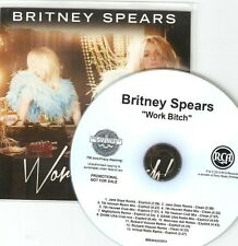 BRITNEY SPEARS - WORK BITCH - BRAND NEW RCA OFFICIAL 13 REMIX CD PROMO