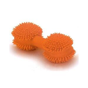 """Coastal Pet Pet Rascals Orange 3.25"""" Latex Mini Spiny Dumbbell Spiney XS Dog Toy"""