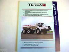 Terex Articulated Ta30 Truck Literature