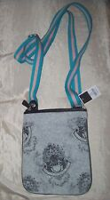 JUICY COUTURE Heather Gris CRUZADO TERCIOPELO Bolso purse-new