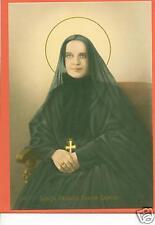 VINTAGE Catholic Large holy card St. FRANCIS X CABRINI Postcard size paper