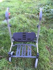 Mobility Rollator folding Walking aid frame 4 Wheeled walker seat tray