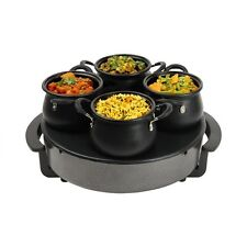 Global Gourmet électrique Indian Curry buffet server et Naan et Bread Warmer