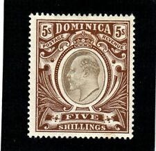 DOMINICA: 1908,5/- black & brown,lightly mounted,sg 36