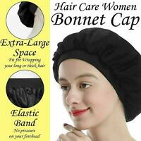 Bonnet Women Soft Pure Satin Silk Sleeping Cap Night Sleep Hat Hair Care Scarves