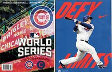 2016 CHICAGO CUBS WORLD SERIES PROGRAM NATIONAL LEAGUE CHAMPION RIZZO BACK COVER