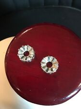 14k White Gold Earring Jacket With Genuine Diamonds