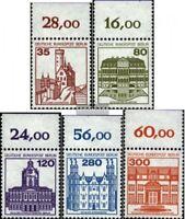 Berlin (West) 673A-677A Oberrandstück (kompl.Ausg.) postfrisch 1982 Burgen und S