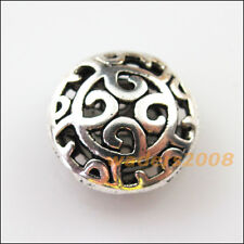 4 New Charms Round Flower Clouds Flat Spacer Beads 16.5mm Tibetan Silver