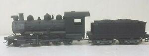 Undecorated Railroad Steam Locomotive 2-8-0 Tender Drive Run Smooth