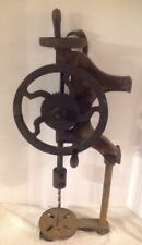VINTAGE CHAMPION BLOWER & FORGE CO. MANUAL DRILL PRESS, HAND CRANK WALL Mount