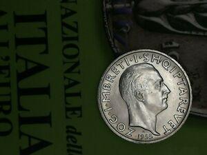 ALBANIA 2 FRANGA 1935 SILVER