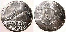 """TITANIC SOMALILAND $5 AU Coin """"1998"""" SINKING in 1912 PPD-USA!"""