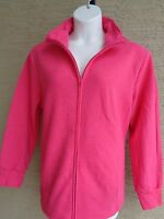New Just My Size 4X  Cotton Blend Fleece Lined Zip Front Mock Neck Jacket Pink