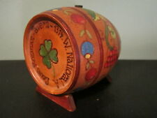 Louis Rozman Jewish Wine Cask Wood Barrel Bank Milwaukee Tavern Bar Hand Painted
