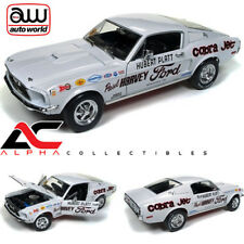 "AUTOWORLD AW247 1:18 1968 FORD MUSTANG COBRA JET ""HUBERT PLATT"" NHRA SUPER STOCK"