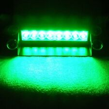 8LED Emergency Vehicle Dash Warning Strobe Flash Light 3 Flashing modes Green