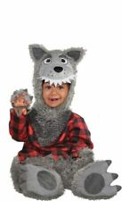 Baby Wolf Infant Halloween Costume 0-6 Month Red Riding Hood Big Bad Wolf