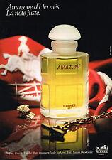 PUBLICITE ADVERTISING 025  1980  HERMES  parfum eau de toilette AMAZONE