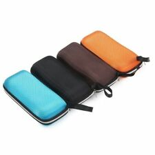 Portable Rectangle Grid Zipper Glasses Case Hard Eyewear Box For Sunglasses XC