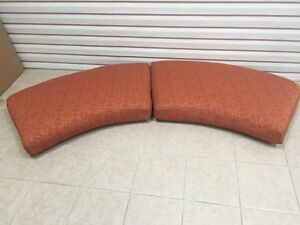 2 pc Frontgate Madison Outdoor Patio Loveseat Sofa Cushions 100x25 Terracotta