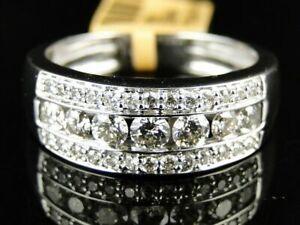 14K White Gold Men's Engagement & Wedding Channel Set Modern Band 3.45Ct Diamond