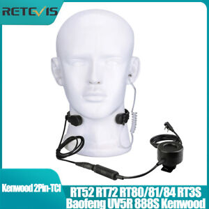 Tactical Throat Mic Headset PTT for Kenwood Baofeng UV5R PUXING Linton Airsoft