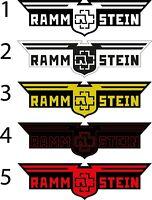 9'' Rammstein Vinyl sticker Decal  german metal band guitar drum decal
