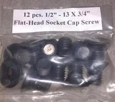 "1/2"" - 13 x 3/4"" Flat Head Cap Screws 12 pcs.  Great Deal For You Today!! ~LOOK~"