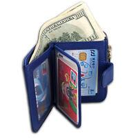 Women's Leather Zip Coin Pocket Wallet ID Window Credit Card Case Holder Purse