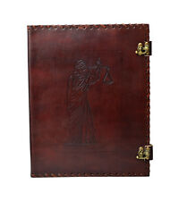 Themis Files Folder 4 Rings A4 Genuine Leather Handmade India Lawyer Law Office