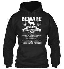 Beware Crazy Collie Smooth Lady Tees Gildan Hoodie Sweatshirt