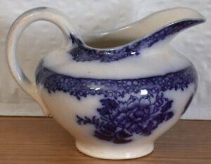 ANTIQUE WALDORF FLOW BLUE CREAMER NEW WHARF POTTERY ENGLAND