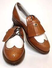 NEW Sz. 6.5 B FOOTJOY Vintage Golf Shoes Women's Classics-Lites Brown/White USA