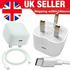 100% Genuine CE charger/Cable PD Plug 20W For Apple iPhone 12 PRO MAX 11 XR XS